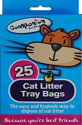 Cat Litter Tray Liners Disposable Hygienic Easy Pets Waste 25 Bags/uk Seller