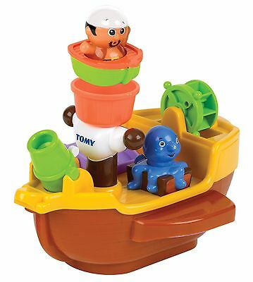 Tomy PIRATE SHIP, Baby Child Toddler Toy Squirting Bath Toy Bathtime T71602