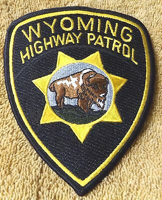 Wyoming Highway Patrol--Official Government Police Patch--New--Unused--Unsewn