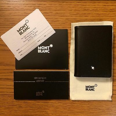 Montblanc meisterstck business card holder with gusset 7167 black montblanc meisterstck business card holder with gusset 7167 black reheart Images