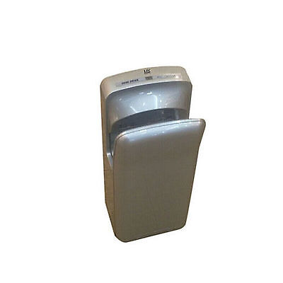 Wall Mounted Automatic Jet Hand Dryer 1650 W Commercial Brushed Silver Bathroom
