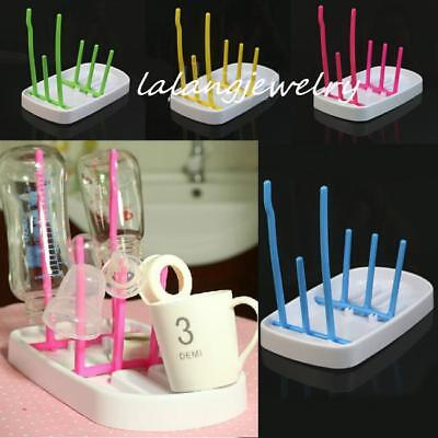 Cute Baby Infant Rack Kitchen Dryer Bottle Clean Drying Shelf Feeder Holder LJ
