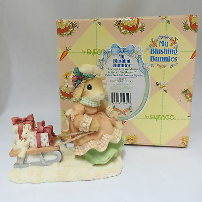 My Blushing Bunnies Gift of Friendship Never Far Behind Christmas Rabbit Figure