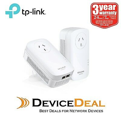 TP-Link TL-PA9020P KIT AV2000 2-Port Gigabit Passthrough Powerline Starter Kit