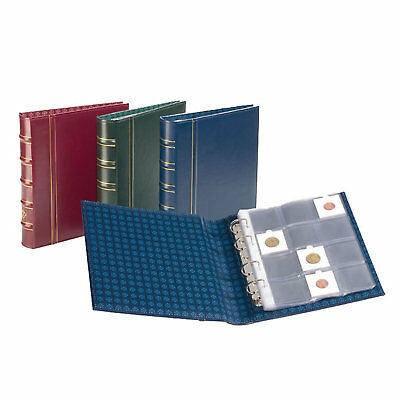 Lighthouse Classic Optima Coin Album With 10 Pages For Coin Holders - RED