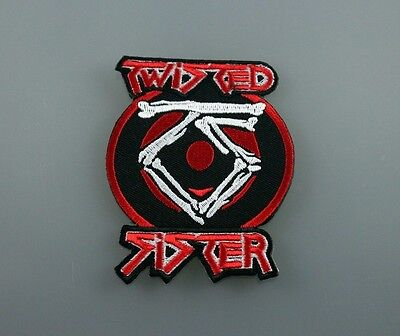 TWISTED SISTER TS rock music band IRON PATCH SEW EMBROIDERED LOGO
