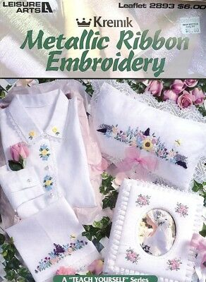 Metallic Ribbon Embroidery Pattern-Instruction Booklet - 30 Days to Shop & Pay!