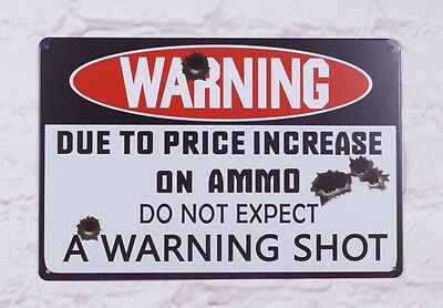 Man Cave Warning Gun Poster wall poster Metal Tin Signs Home Pub bar Decoration