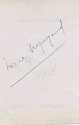 Diana Wynyard Film American Actress - Signed Paper - 4 x 3
