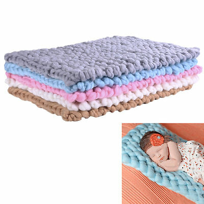 New Handmade wool knitting  blanket for Newborn baby photography prop