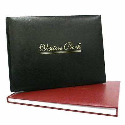 Premium Quality Visitor Book Black Burgundy Red for Hotel/Business/Guest House