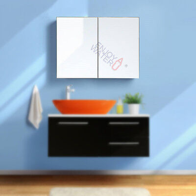 Soft Close 750x720x150mm Shaving Mirror Cabinet Medicine Pencil edge Bathroom