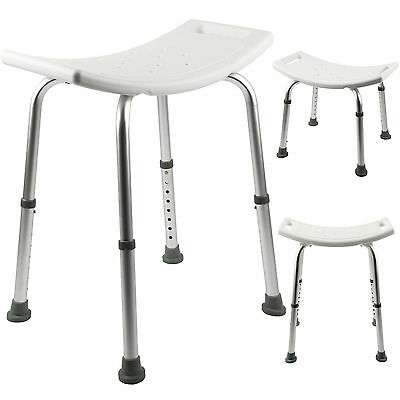 Easy Aluminium Portable Shower Stool Bathroom Seat Chair Bath Disability Aid