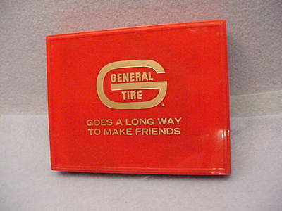 Vintage General Tire Playing Cards With Box Brown & Bigelow