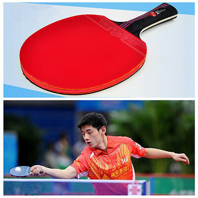 Professional Carbon Fiber Table Tennis Racket Ping Pong Paddle Wood Handle Bat