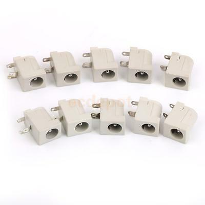 10Pc DC Power Supply Jack Socket Female Jack Panel Mount Connector 5.5x2.1mm