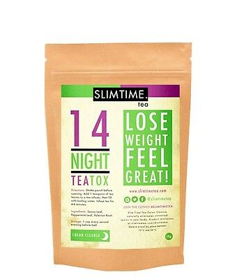 SlimTime Tea 14 Day Night Colon Cleanse TeaTox (Skinny Tea Me Detox) Weight Loss