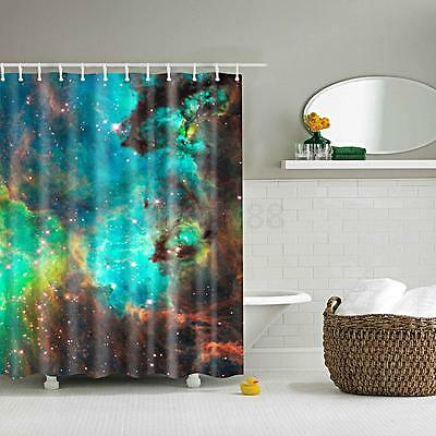 1pcs Shower Curtain Bath Waterproof Polyester Fabric Drapes Starry Sky 71""