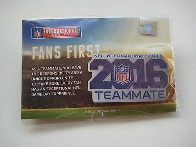 NFL International Series 2016 Teammate Pin Badge - New in Packaging