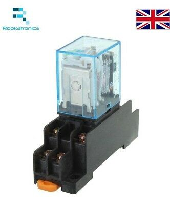240VAC 8 Pin Relay DPDT with Socket Base Included High Quality