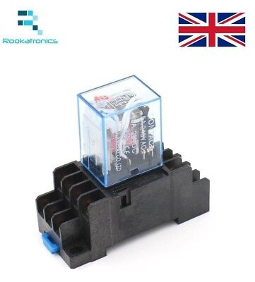240VAC Coil Power Relay 14 Pin 4PDT 5A 240V with Socket - Free Postage 220V