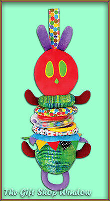 The Very Hungry Caterpillar Jiggle Attachable Fun Sensory Play Toy Cot Pram  0+
