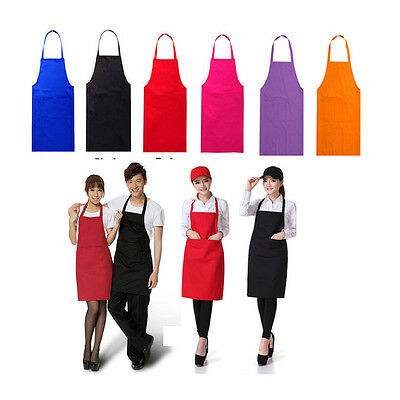 GL® Plain Apron with Front Pocket for Chefs Butcher Kitchen Cooking Baking Craft