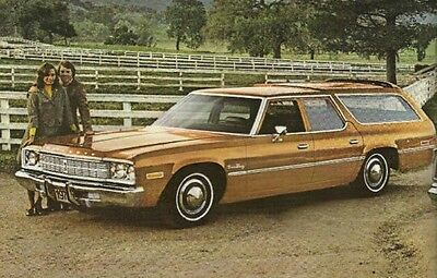 1975 Plymouth STATION WAGON Brochure / Pamphlet : FURY,GRAN,CUSTOM,Wagons, '75