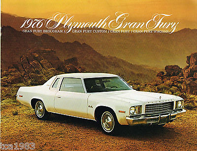 1976 PLYMOUTH GRAN FURY Brochure / Pamphlet: BROUGHAM,CUSTOM,Station Wagon,Grand