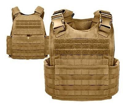 US MOLLE PLATE CARRIER Military Plattenträger Army Weste VEST Coyote