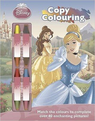 Disney Princess Copy Colouring Book With Chunky Crayons (Disney Activity), New,