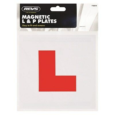4 x L & P Fully Magnetic Plates Set Learner New Driver Just Passed For Bike Car