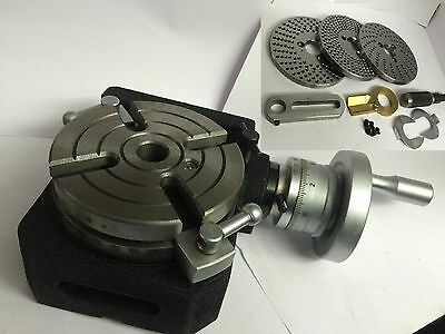 HV4 (110 MM) HORIZONTAL VERTICAL ROTARY TABLE +DIVIDING PLATE SET for INDEXING
