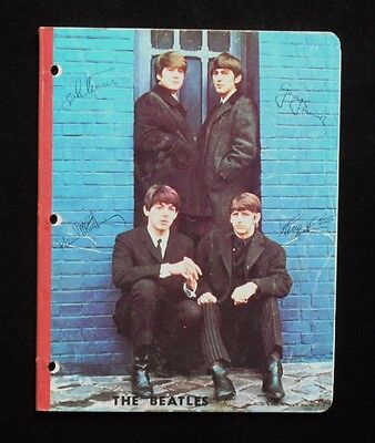 Early 1960's THE BEATLES **NOTE BOOK** by NEMS LTD London - FAB 4 on COVER!!