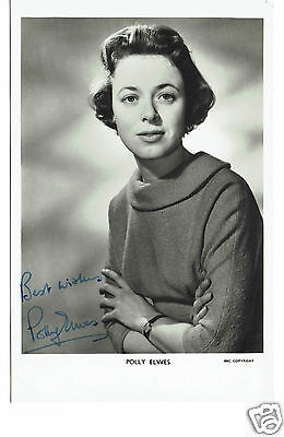 Polly Ewles BBC Television announcer 1950s Hand Signed Vintage Photograph 5 x 3