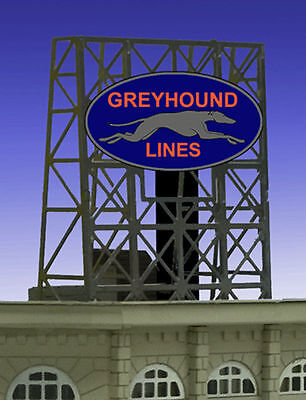 Greyhound Bus Lines Animated Billboard Sign for N Z Scale Miller 338950