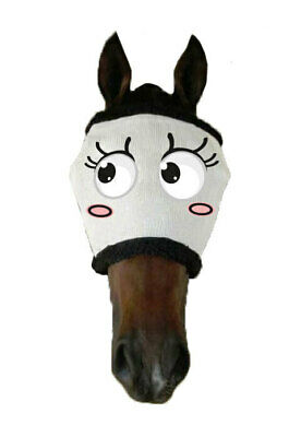 New Funny Horse Pony Fly+mask+Fly+Veil BLUSHING BRIDE UV+Insect protection