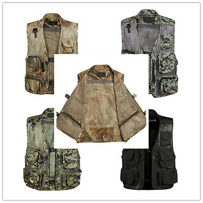Men Multi Pocket vests Photography/Director/Hunting/Fishing vest mesh waistcoat!