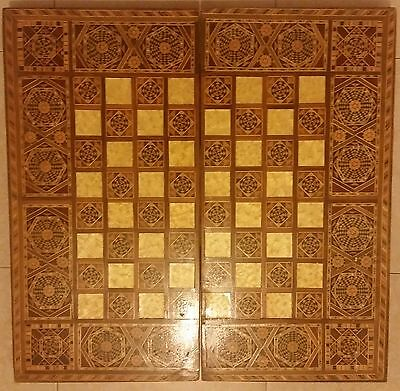 Holy land Inlaid Mosaic Wooden Mother of Pearl Middle Eastern Backgammon