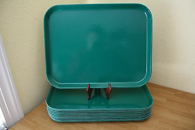 """(11) Carlisle 14"""" x 18"""" Forest Green Cafeteria Tray Fast Food Restaurant Tray"""