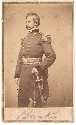 Civil War General Nathaniel P. Banks CDV by Brady/Anthony.