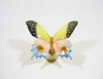 """Colorful Butterfly 4"""", Vintage Handpainted Porcelain Figurine Germany !"""