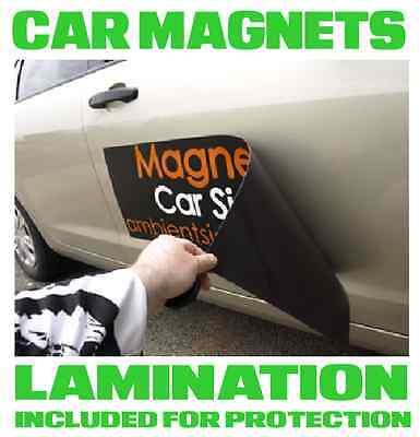 Custom Car Magnets Magnetic Auto Car Truck vehicle Signs 2 x 4