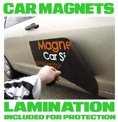 Custom Car Magnets Magnetic Auto Car Truck vehicle Signs 1 x 2