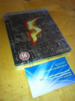 Resident Evil 5 Steel Box Limited Edition Ps3 New-Uk English - Italian_Sealed