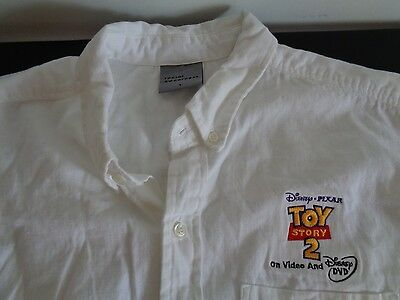 "DISNEY Pixar TOY STORY 2 ""On Video And DVD"" PROMO Shirt Size LARGE Free Shipping"