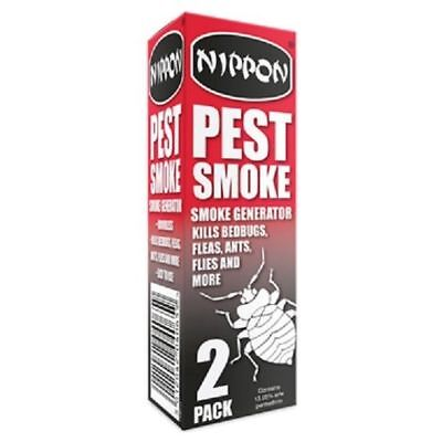 Nippon Pest Smoke Generator Greenhouse/Shed Pest Control Pack x2