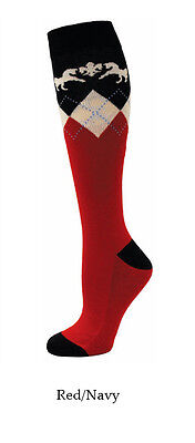 Equine Couture Hadley Socks - Red & Navy