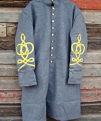 civil war confederate frock coat with 4 row braids  52