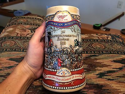 Miller High Life Great Achievements 1st Transcontinental Railway Stein